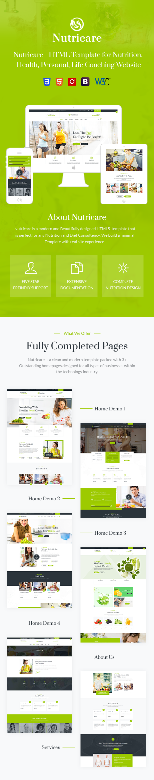 Nutricare HTML5 Template