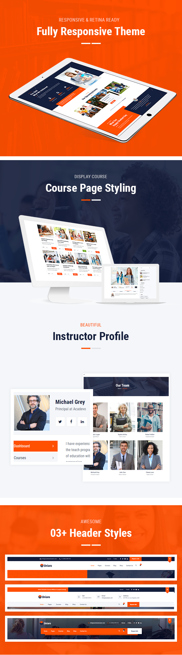 uniaro and Education HTML5 Template