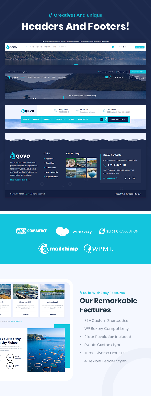 AquaFarm & Fishery Services WordPress Theme