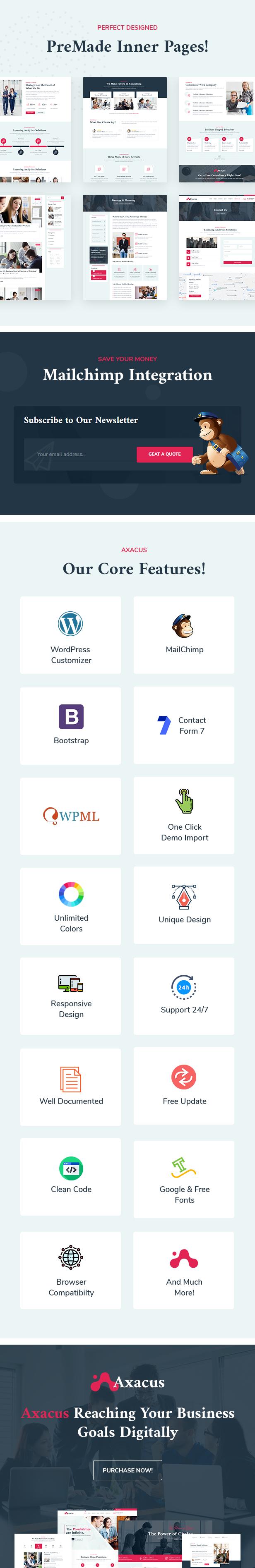 Axacus Business Agency WordPress Theme