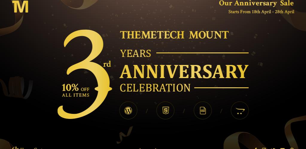 themetechmount anniversary sale